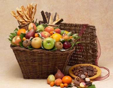 Assorted Fruit Gifts, Fruit Basket for Office, Fruit and