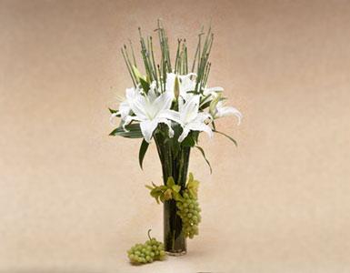 Casablanca Lilies Sympathy Flowers White Floral Arrangement Sympathy Flower Delivery Los
