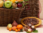 Fruit Hamper with Four Comestables